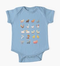 Farm Animals Cartoon Set Kids Clothes