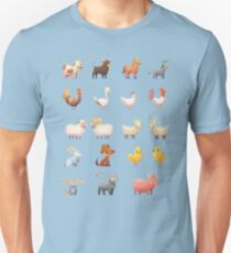 Farm Animals Cartoon Set Unisex T-Shirt