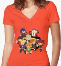 the nicest kids in town Women's Fitted V-Neck T-Shirt