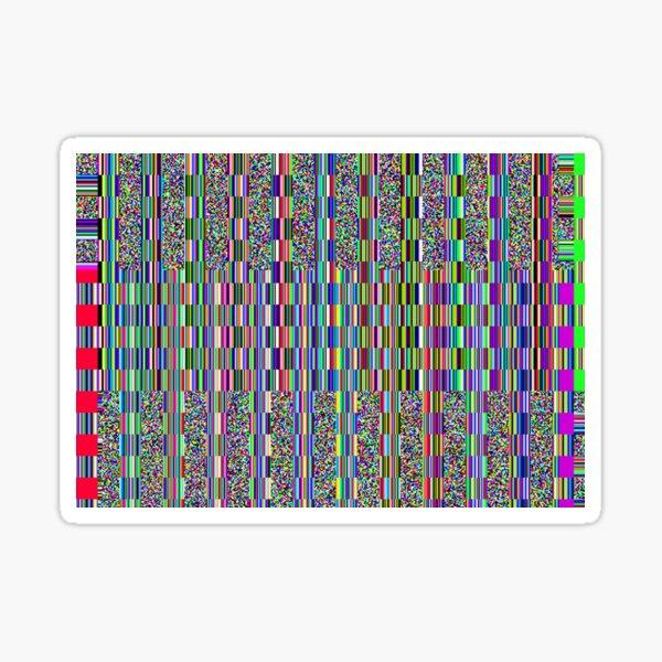 Old TV screen error glitch effect Sticker