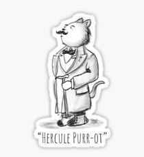 Hercule Purr-ot, Cat Detective! Sticker