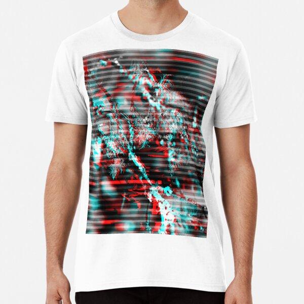Glitch background. Computer screen error Premium T-Shirt