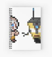 Borderlands pixel art Spiral Notebook
