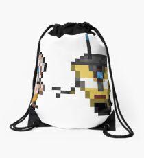Borderlands pixel art Drawstring Bag