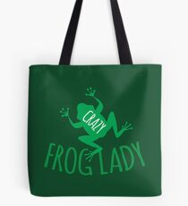 CRAZY frog lady  Tote Bag