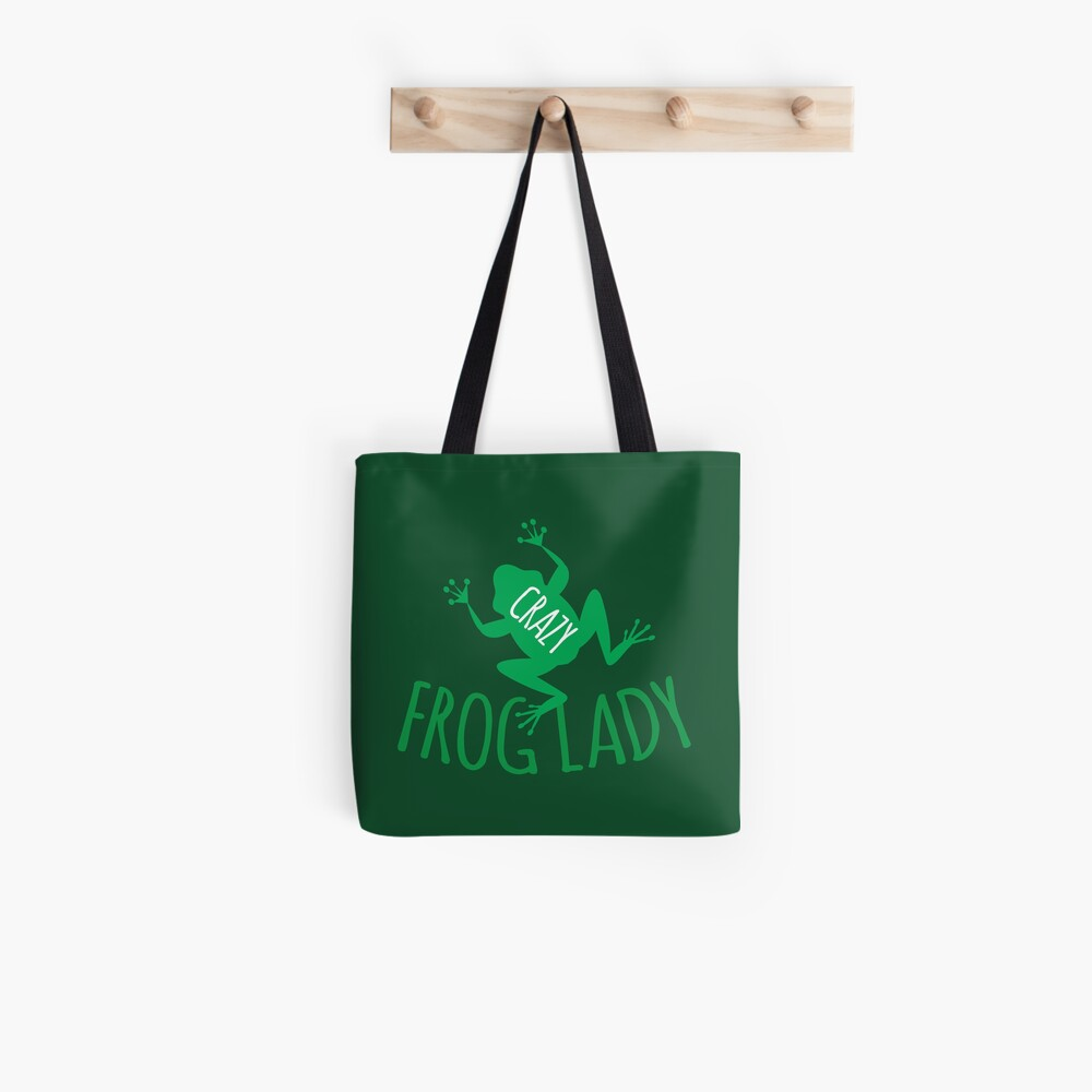 VERRÜCKTE Frosch Dame Tote Bag