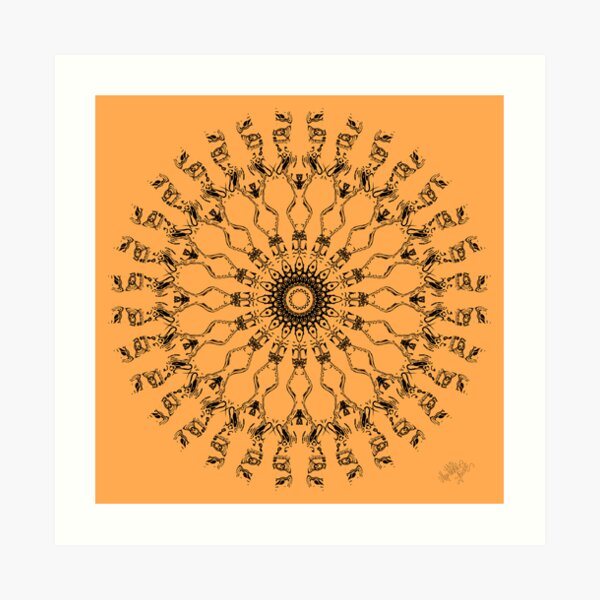 The World In Henna Art Print