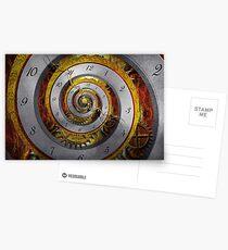 Steampunk - Spiral - Infinite time Postcards