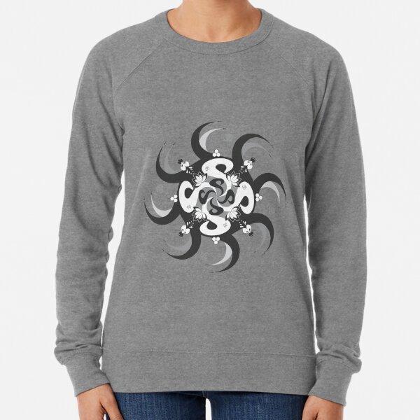 Shee Mandala Spiral with Om and Lotus Symbol Lightweight Sweatshirt