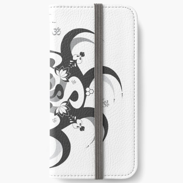Shee Mandala Spiral with Om and Lotus Symbol iPhone Wallet