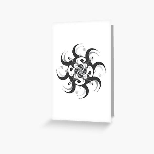 Shee Mandala Spiral with Om and Lotus Symbol Greeting Card