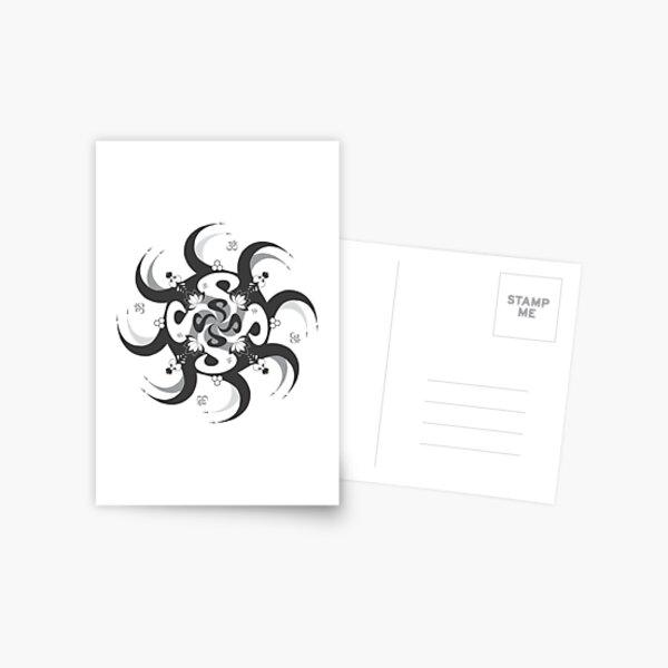 Shee Mandala Spiral with Om and Lotus Symbol Postcard
