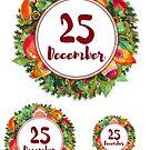 Advent calendar sticker - 25th of December by vasylissa