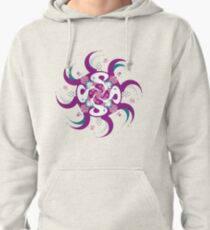 Shee Mandala Spiral with Om and Lotus Symbol Pullover Hoodie
