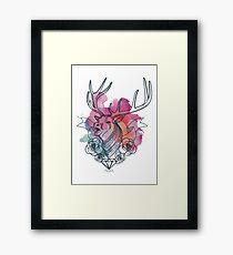 Water Color Stag Design Framed Print