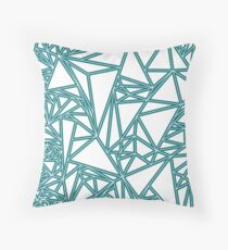 Blue Oragami Throw Pillow