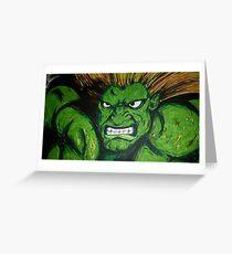 Blanka! Street Fighter Legend! Greeting Card