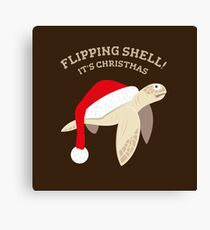 Flipping Shell! It's Christmas. Canvas Print