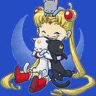 Verrückte Mondkatze Dame von dooomcat