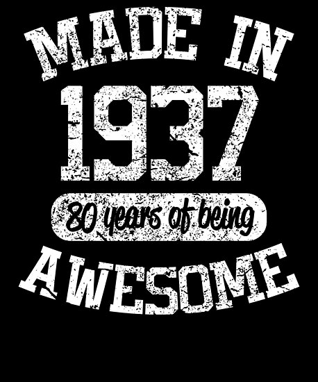 1937 Birthday Shirt