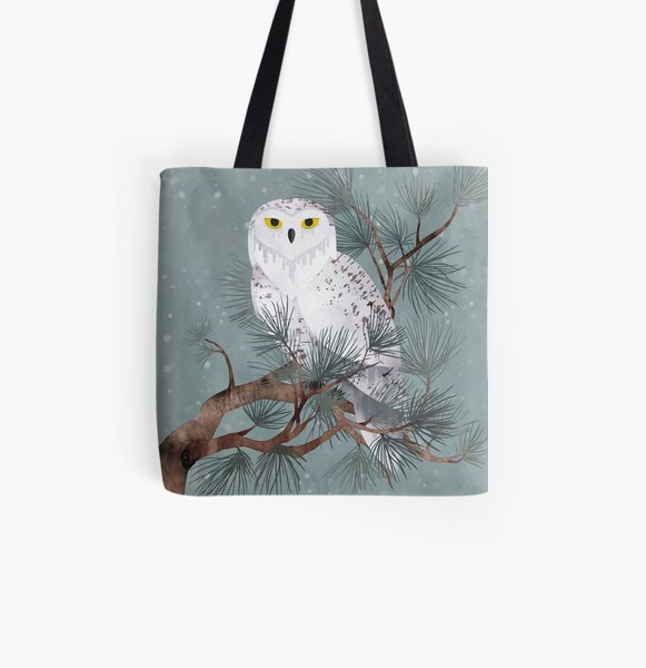 Snowy All Over Print Tote Bag