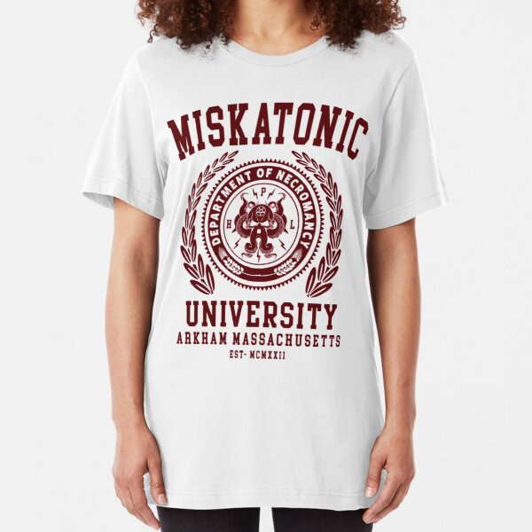 CTHULU AND LOVECRAFT - MISKATONIC UNIVERSITY Slim Fit T-Shirt
