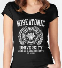 CTHULU AND LOVECRAFT - MISKATONIC UNIVERSITY Women's Fitted Scoop T-Shirt