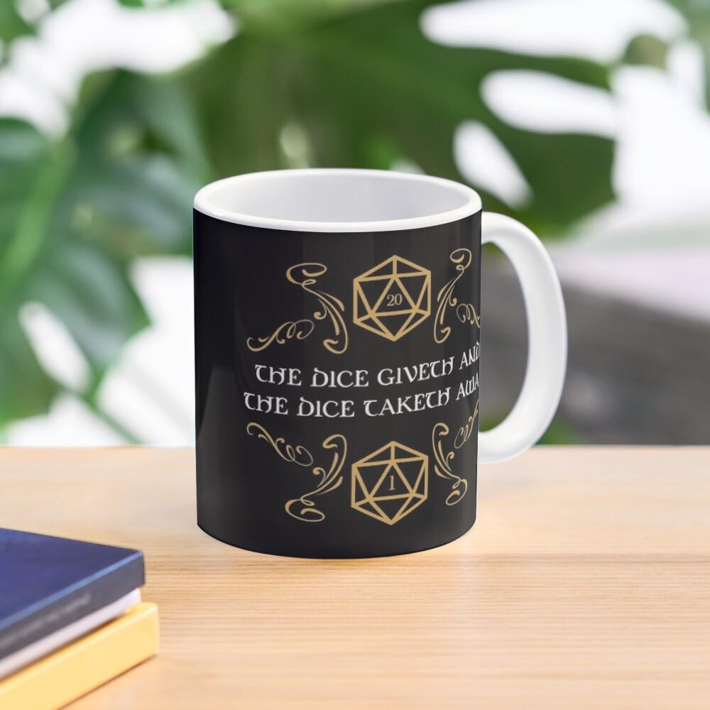 The Dice Giveth and Taketh Away Natural 20 and Critical Fail Mug