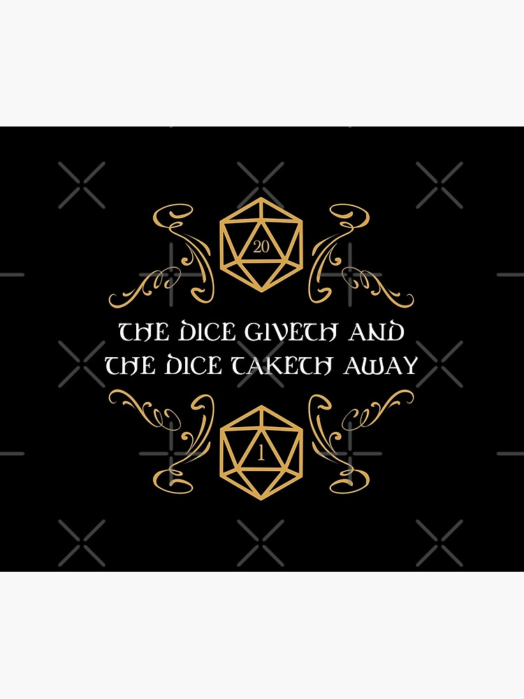 The Dice Giveth and Taketh Away Natural 20 and Critical Fail by pixeptional