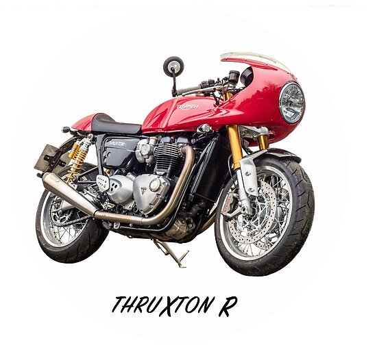 triumph thruxton 1200 r posters by nigel lomas redbubble. Black Bedroom Furniture Sets. Home Design Ideas