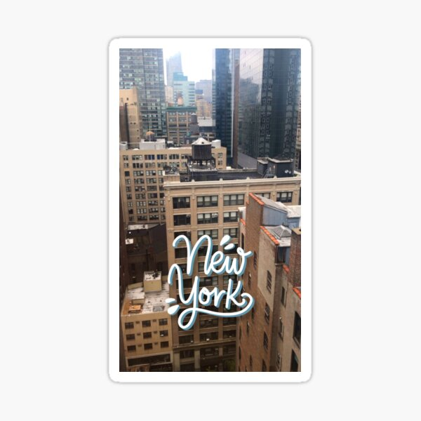 New York - Photography and Lettering Sticker
