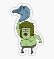 Muscle Man Regular Show Sticker