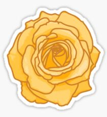 Yellow rose Sticker Sticker