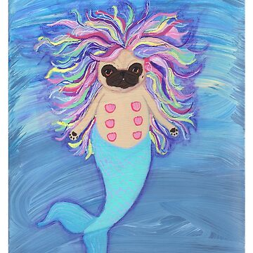 Mermaid Pug by chickenpants