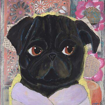 Gloria - Pug Art by chickenpants