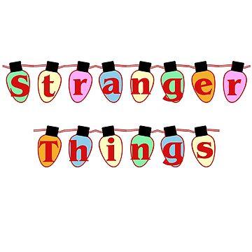 Stranger Things in Lights by yaney85