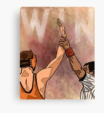 Wrestling Win Canvas Print