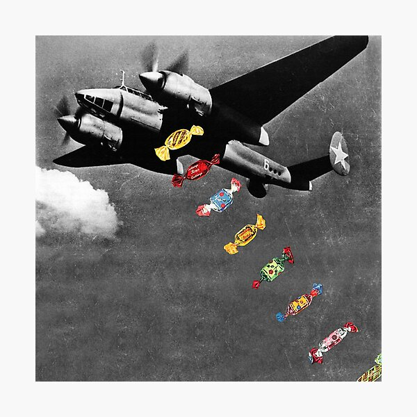 Candy Bomber Photographic Print