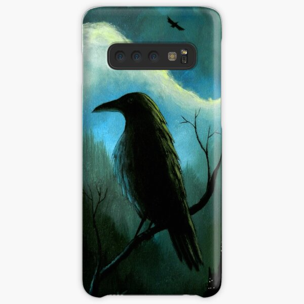Mountain City Under the Moon - Crows/Ravens Samsung Galaxy Snap Case