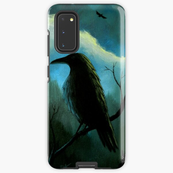 Mountain City Under the Moon - Crows/Ravens Samsung Galaxy Tough Case