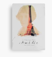 Amélie, Fine Art print, Jean-Pierre Jeunet, Audrey Tatou, giclee French movie poster, old classic cinema, Amelie Metal Print