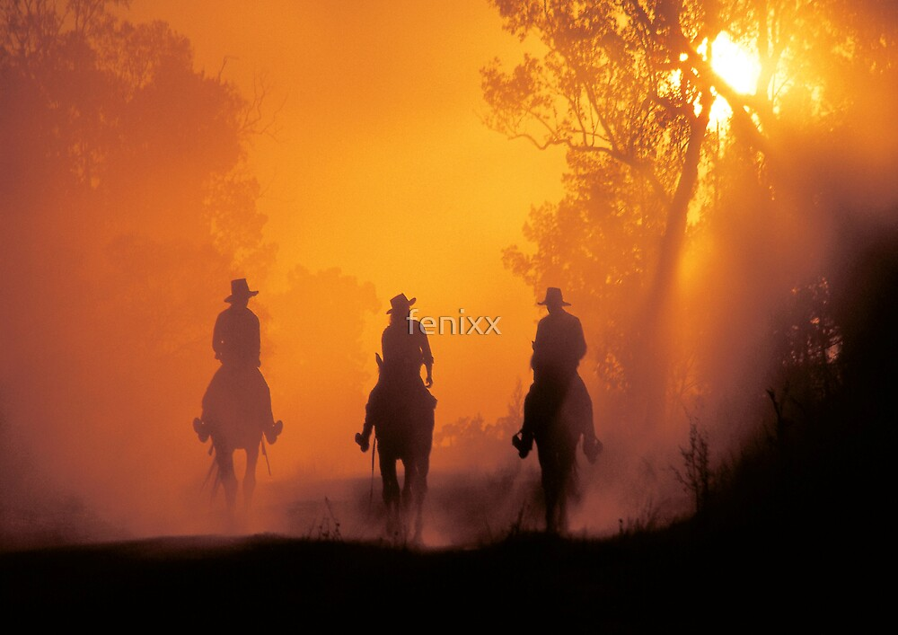 Mountain Cattlemen returning from the High Country in Tasmania by fenixx