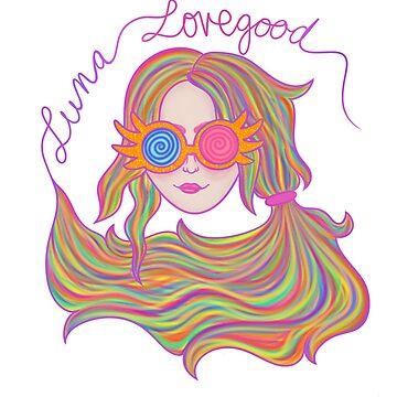 Psychedelic Luna Lovegood by callmehiwatt