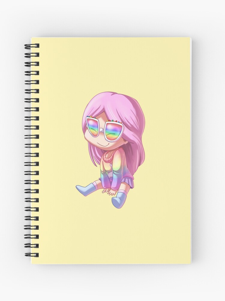 AliceStarz Roblox Avatar Art Chibi Kawaii | Spiral Notebook