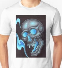 blue skull waves T-Shirt