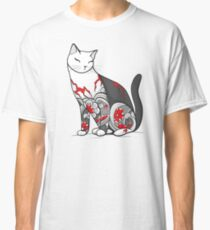 Cat in Cherry Blossom Tattoo Classic T-Shirt