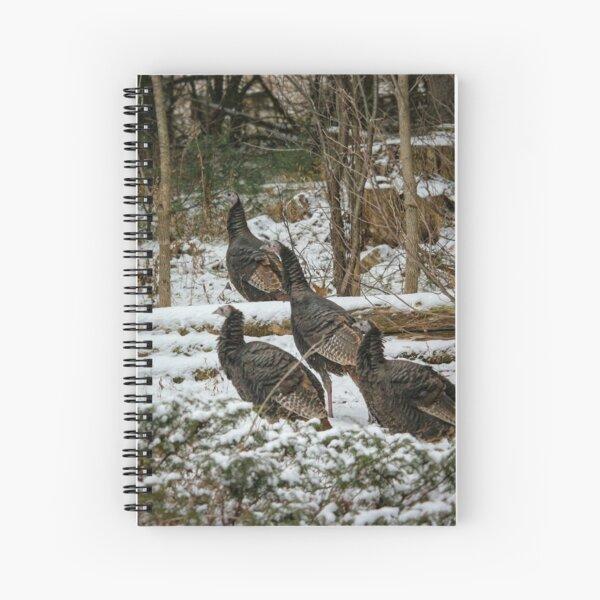 Christmas turkeys Spiral Notebook