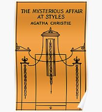 The Mysterious Affair at Styles book cover Poster