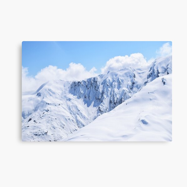 Summit of snowy mountains Canvas Print