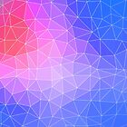 Abstract Colorful Flashy Geometric Triangulate Design by oursunnycdays